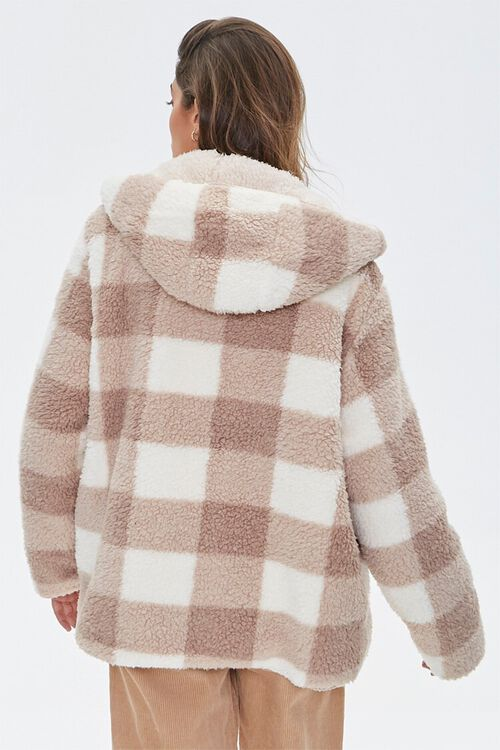 Reversible Faux Fur Hooded Coat, image 4