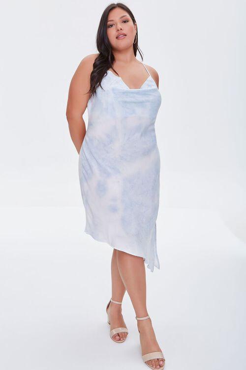 Plus Size Satin Tie-Dye Dress, image 4