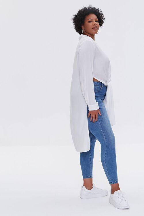 Plus Size Knotted Longline Shirt, image 2