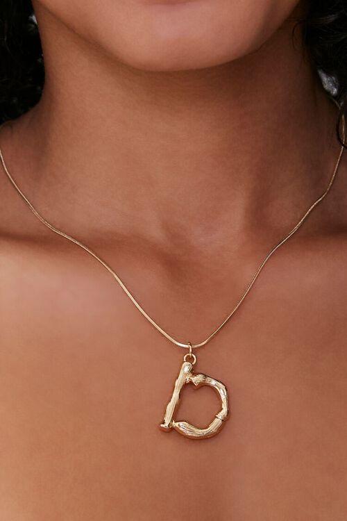 Letter Text Pendant Necklace, image 1
