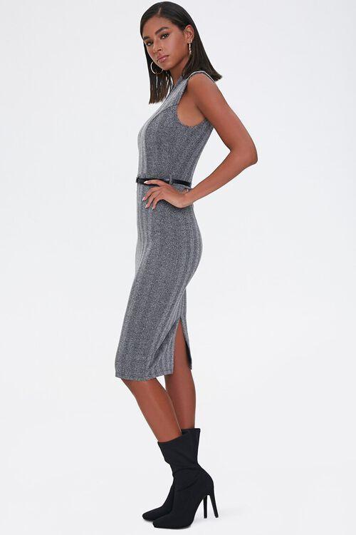 CHARCOAL/BLACK Herringbone Sheath Dress, image 2