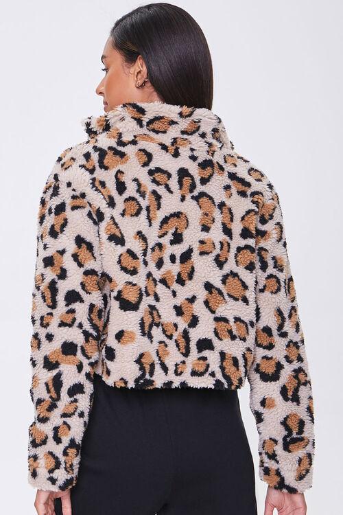 Faux Shearling Leopard Print Jacket, image 3
