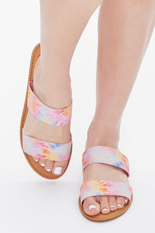 Tie-Dye Dual-Strap Sandals, image 4