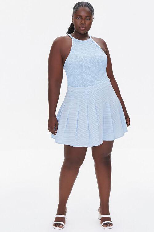 Plus Size Plaid Mini Skirt, image 5