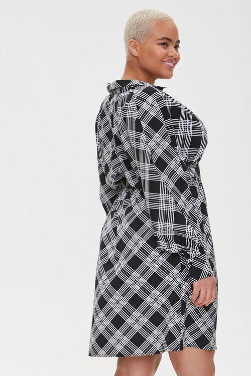 Plus Size Plaid Wrap Dress, image 2