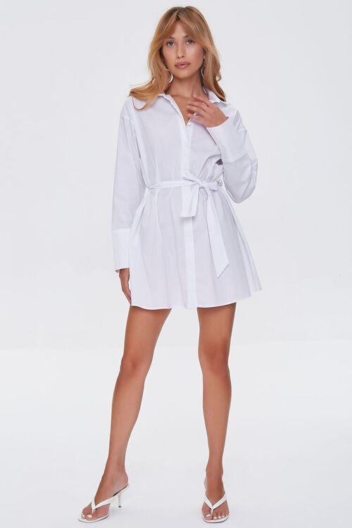 Belted Mini Shirt Dress, image 4