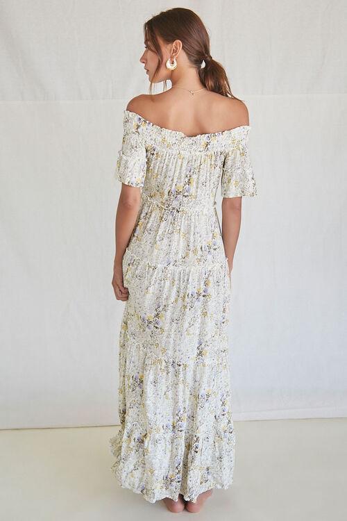Floral Off-the-Shoulder Maxi Dress, image 3