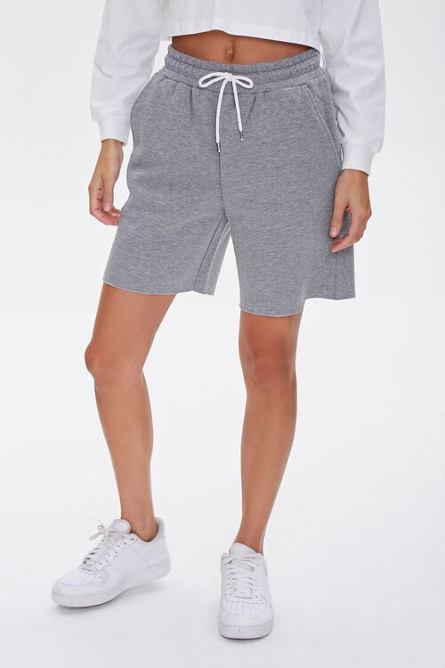 Basic Raw-Cut Drawstring Shorts, image 2