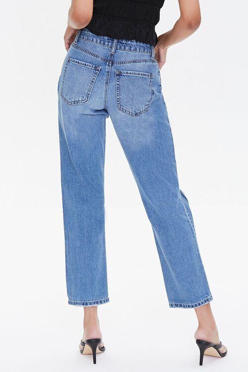 MEDIUM DENIM Premium Distressed Boyfriend Jeans, image 4