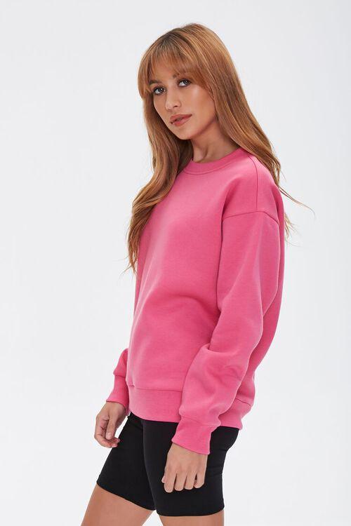 Basic Fleece Drop-Sleeve Pullover, image 2