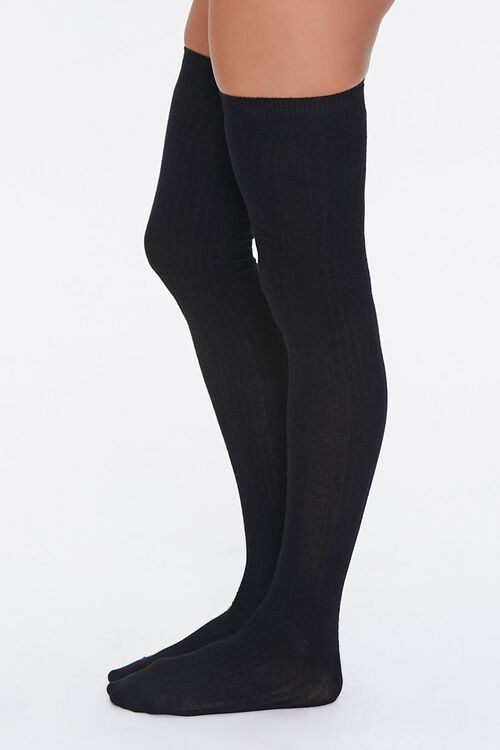 Shadow-Striped Thigh-High Socks, image 2
