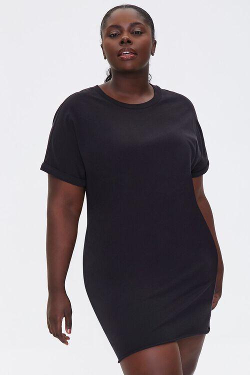 Plus Size Cuffed T-Shirt Dress, image 1