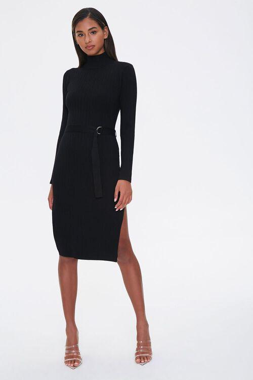 Ribbed Mock Neck Dress, image 4