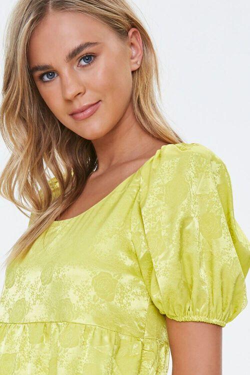 Satin Rose Print Shift Dress, image 5
