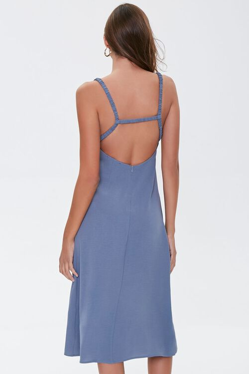 Side-Slit Cutout Cami Midi Dress, image 3