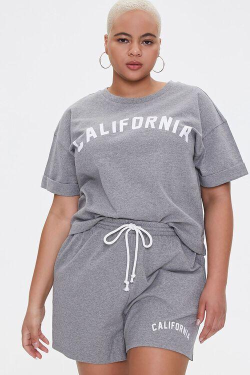Plus Size California Tee & Shorts Set, image 1