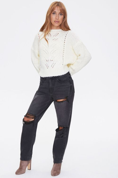 Pointelle Knit Sweater, image 4