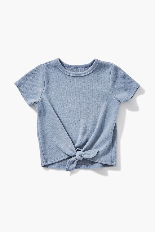 BLUE Girls Knotted Tee (Kids), image 1