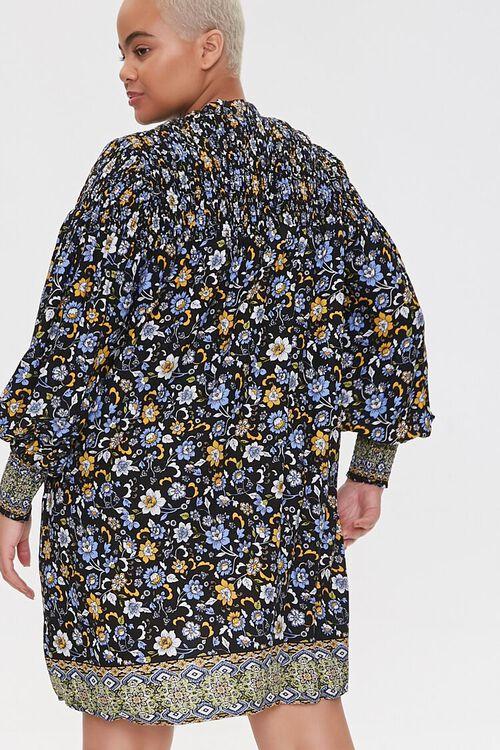Plus Size Ornate Floral Shift Dress, image 3