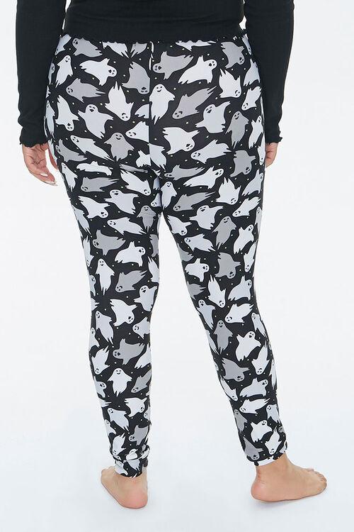 Plus Size Ghost Print Leggings, image 4