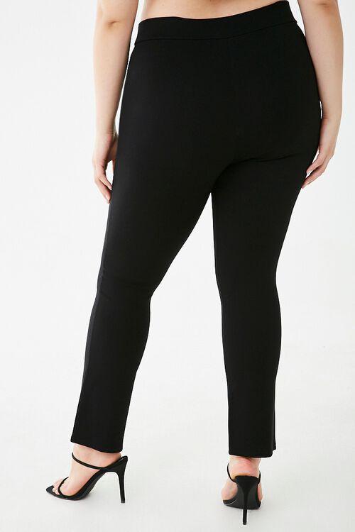 Plus Size Split-Hem Leggings, image 4