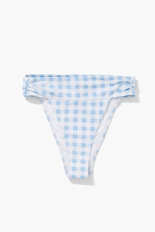 Gingham High-Rise Bikini Bottoms, image 1