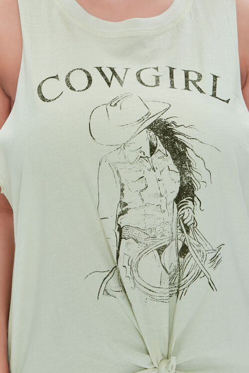 SAGE/BLACK Plus Size Cowgirl Muscle Tee, image 5