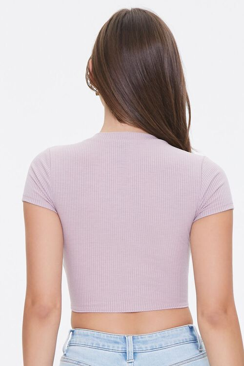 Ribbed Tie-Front Crop Top, image 3