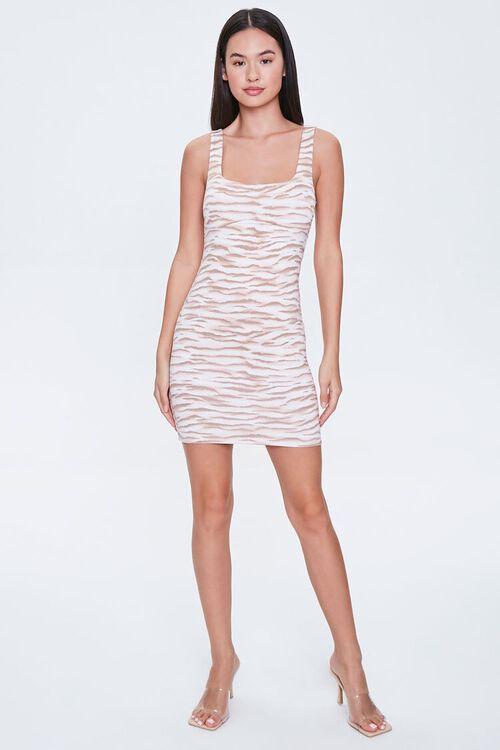 Tiger-Striped Mini Bodycon Dress, image 4
