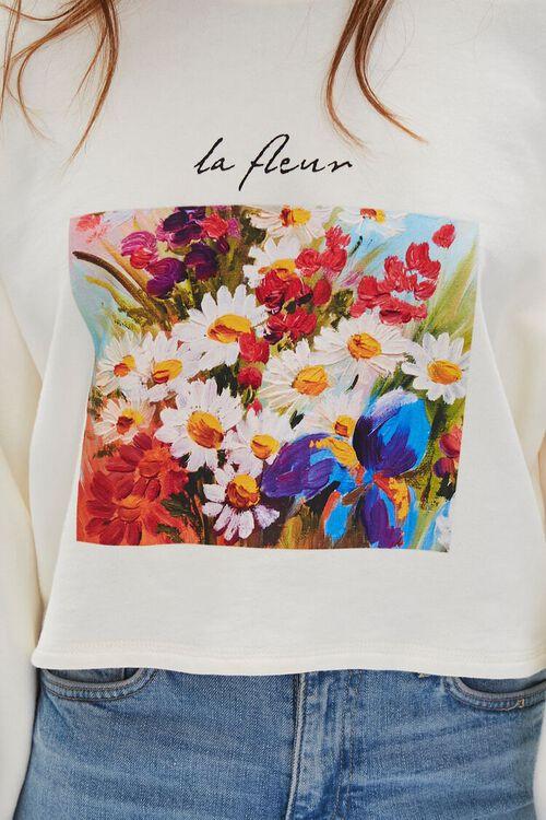Floral Graphic Boxy Sweatshirt, image 6