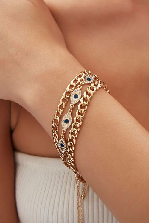 Evil Eye Charm Bracelet Set, image 1