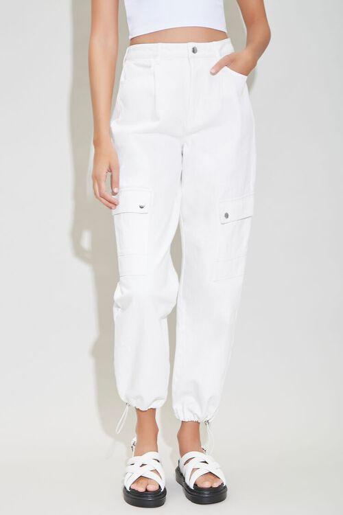 CREAM High-Rise Cargo Jeans, image 2
