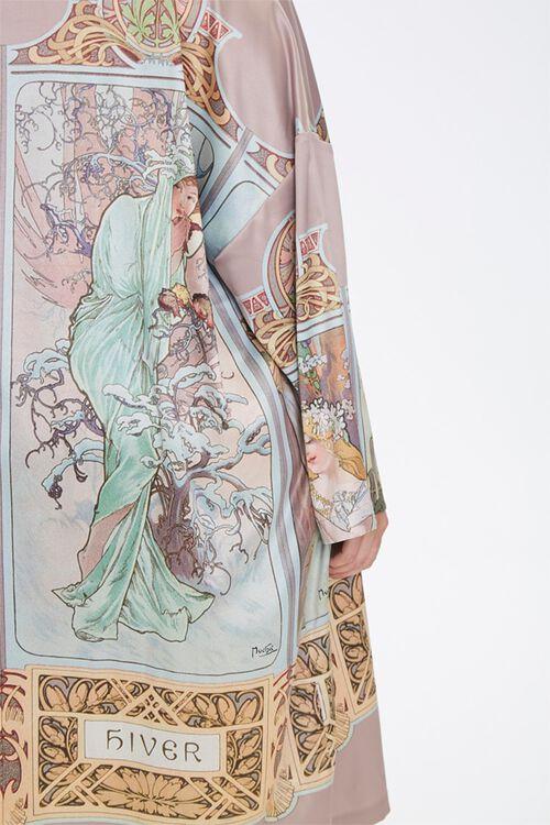 Plus Size Alphonse Mucha Kimono, image 5
