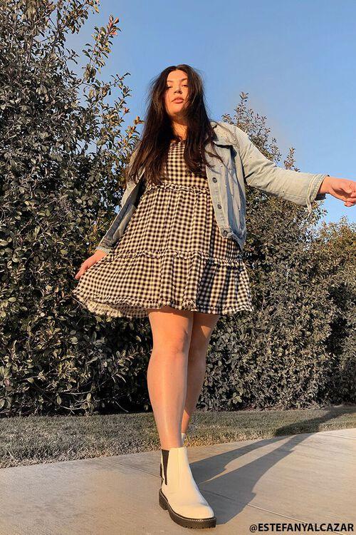 Plus Size Gingham Mini Dress, image 1