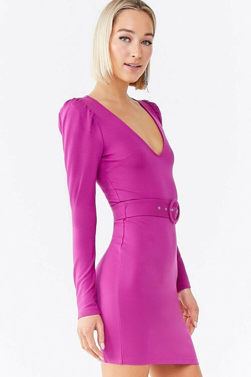 O-Ring Belt Mini Dress, image 2