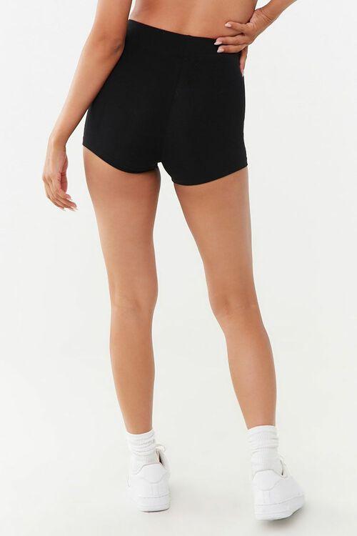 BLACK Basic Cotton-Blend Bike Shorts, image 4