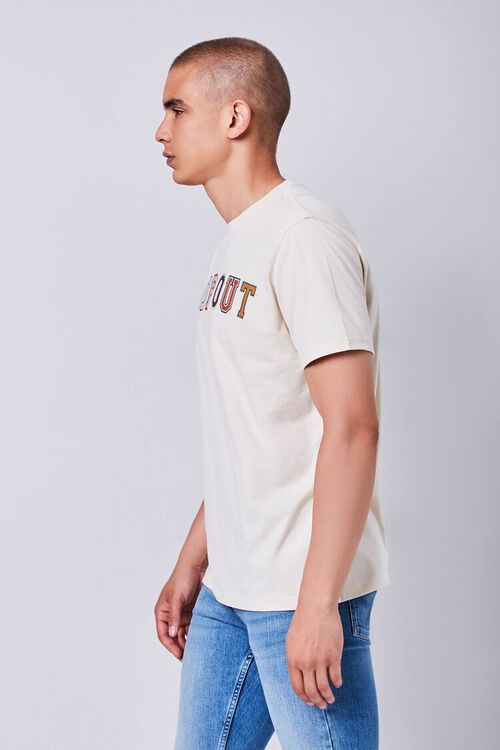 TAUPE/MULTI Organically Grown Cotton Graphic Tee, image 2