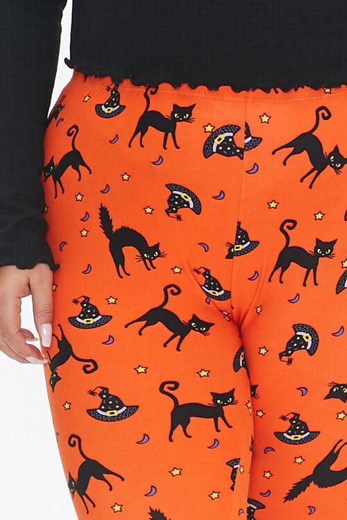 Plus Size Cat & Witch Hat Leggings, image 5