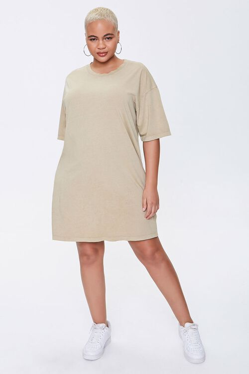 Plus Size Crew T-Shirt Dress, image 4