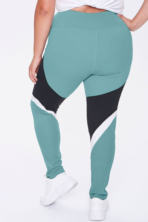 Plus Size Active Colorblock Leggings, image 4