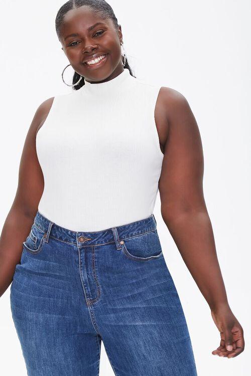 Plus Size Sleeveless Turtleneck Bodysuit, image 1