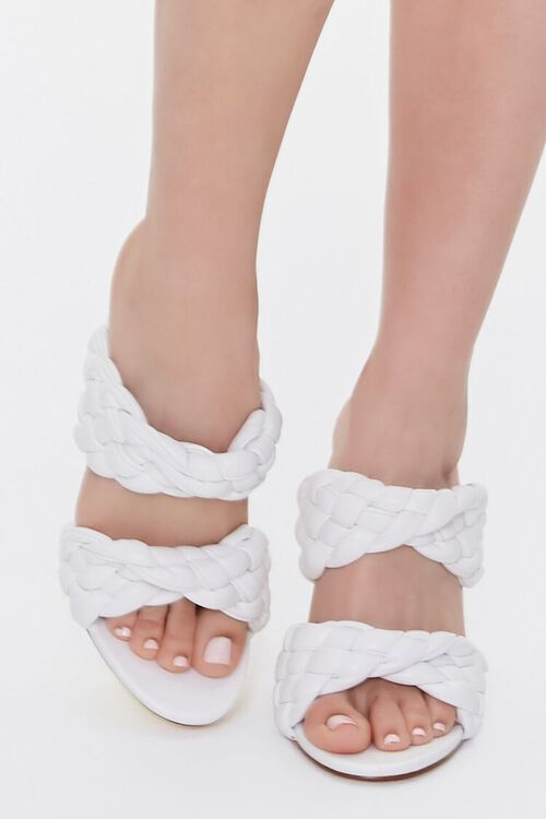 WHITE Braided Twisted High Heels, image 4