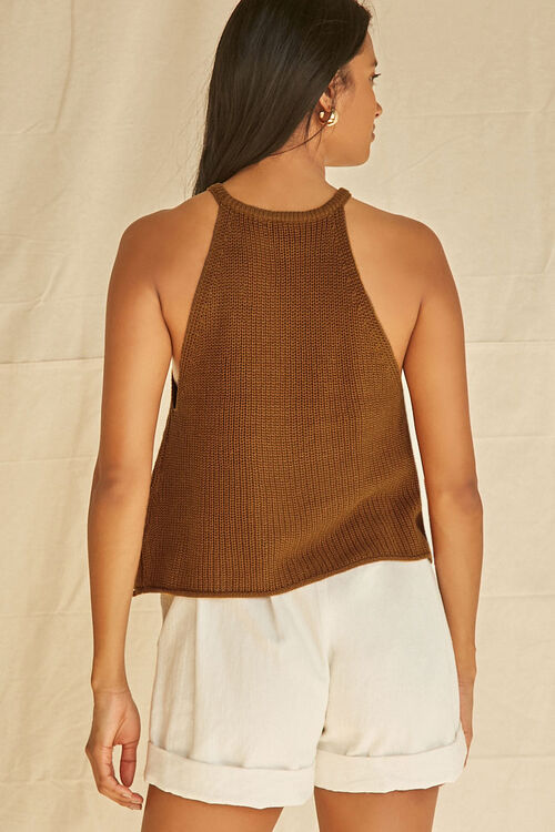 CAMEL Ribbed Sweater-Knit Cami, image 3