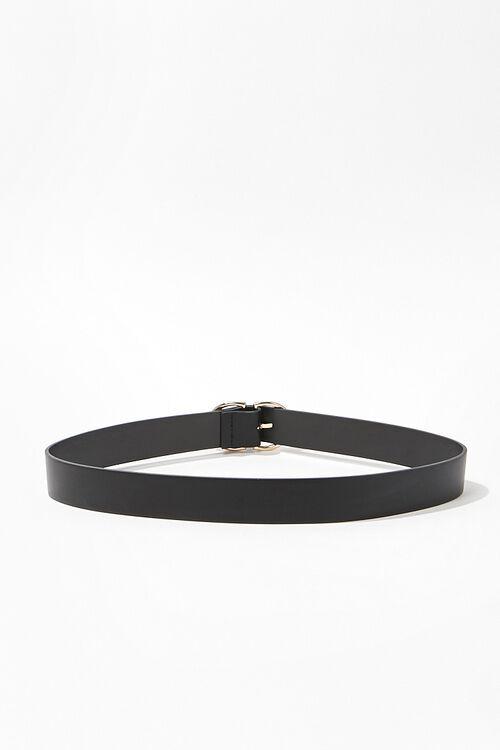 Faux Leather D-Ring Belt, image 2