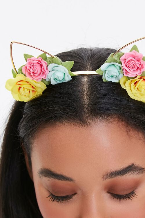 Floral Cat-Ear Headband, image 2