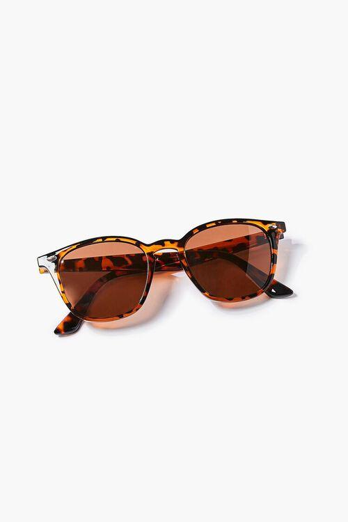 BROWN/MULTI Men Round Square Sunglasses, image 4