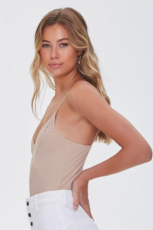 Lace-Trim Cami Bodysuit, image 2