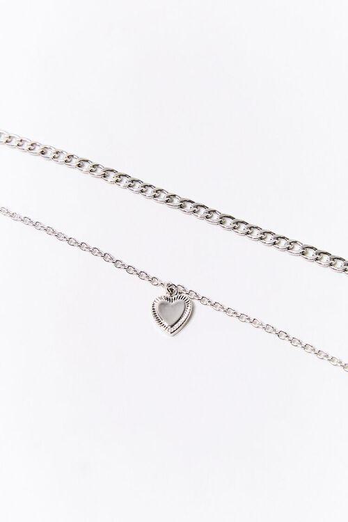 SILVER Heart Charm Anklet Set, image 2