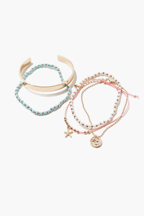Beaded Charm Bracelet Set, image 1