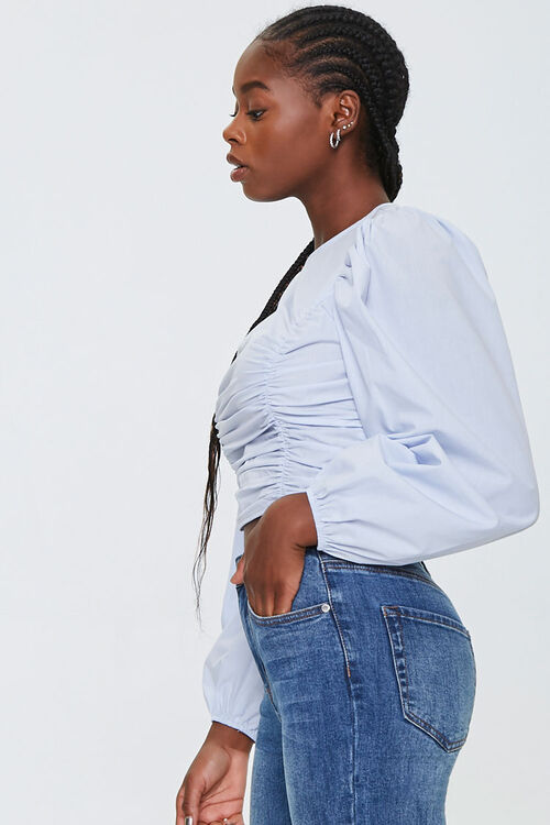 Ruched Poplin Top, image 2